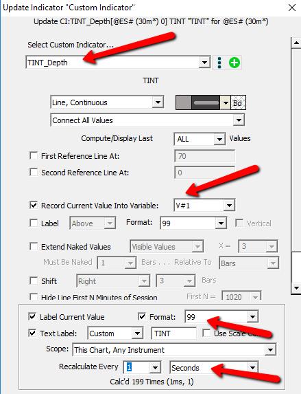 Bid/Ask Depth Bars - Depth Candles | Linn Software