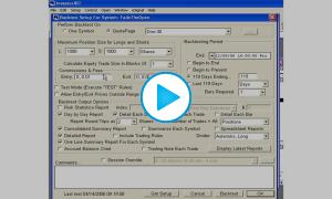 Trading system testing software